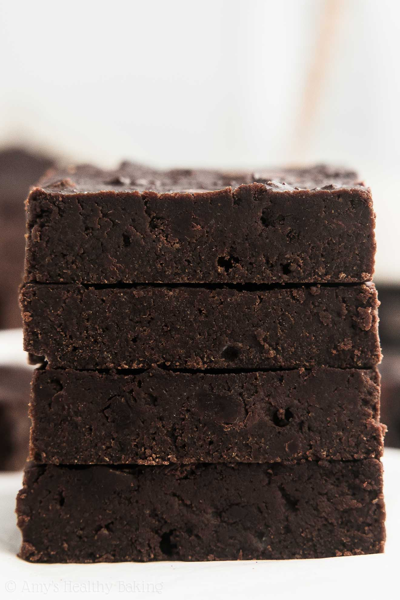 Low-Calorie and Gluten-Free Fudgy Healthy One-Bowl Chocolate Chunk Brownies