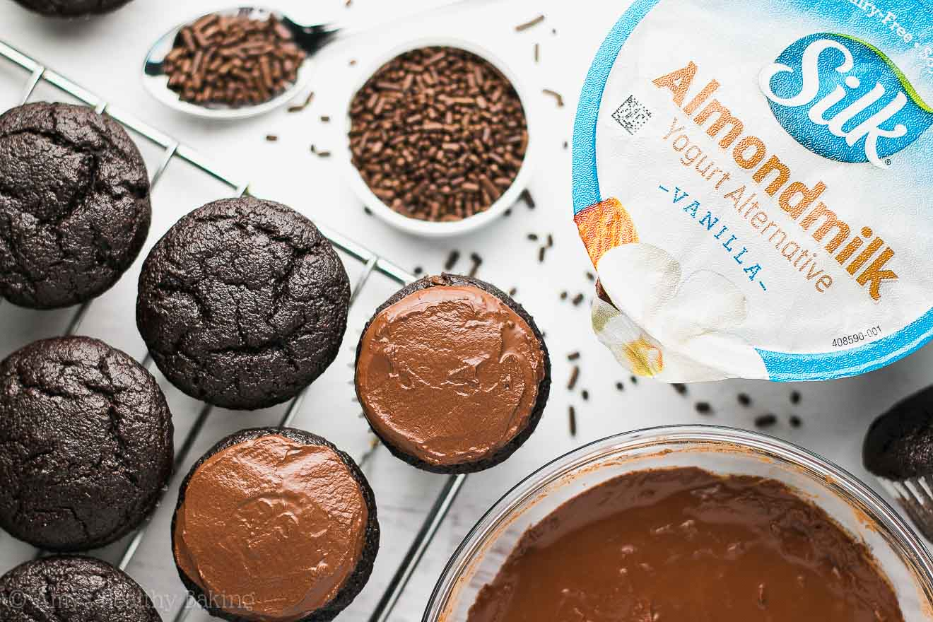 Easy Vegan Small Batch Mini Chocolate Cupcakes with Chocolate Frosting