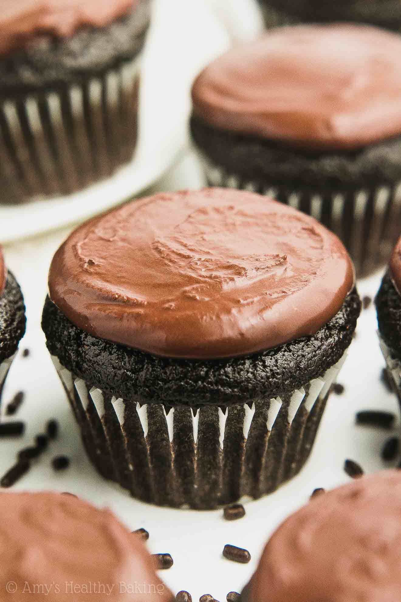 Gluten-Free Vegan Healthy Small Batch Mini Chocolate Cupcakes