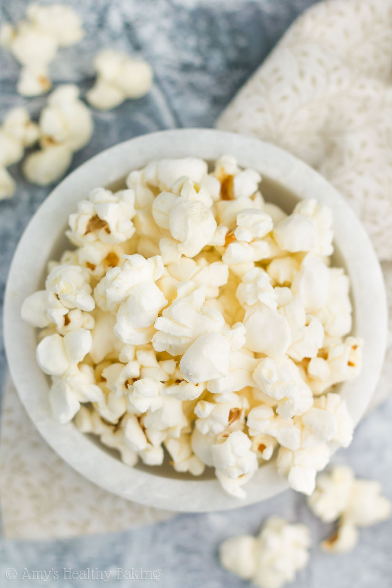 Healthy Low-Calorie Homemade Air Popped Popcorn