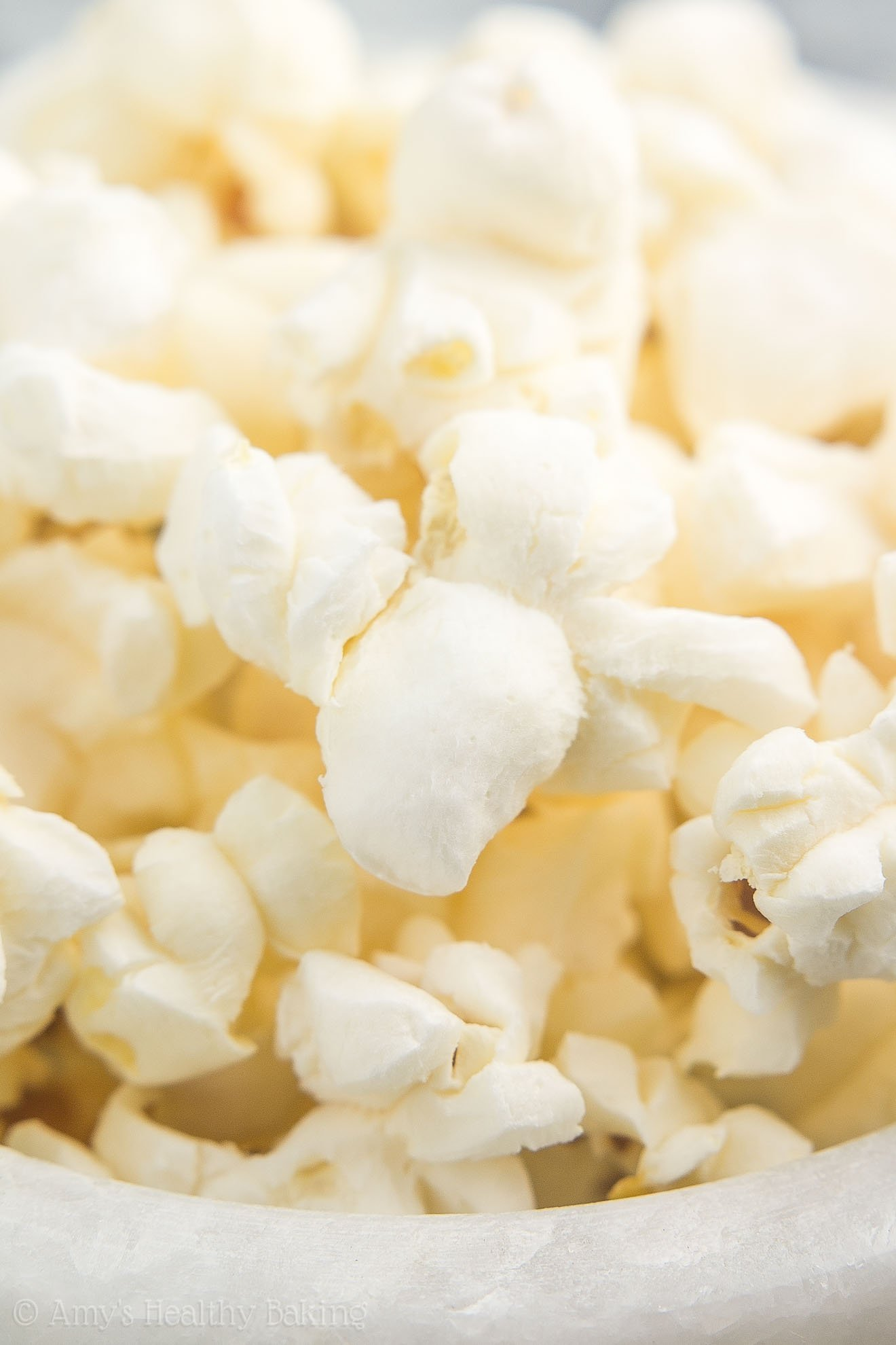Big pieces of freshly popped Stovetop Air Popped Popcorn