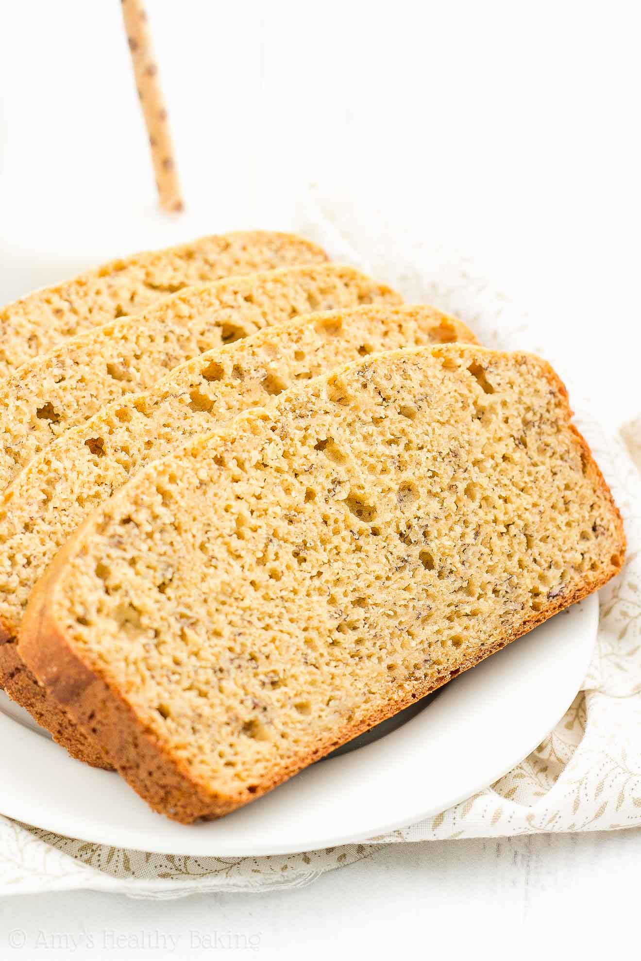 The Best Easy Healthy Banana Bread Recipe made with Greek yogurt