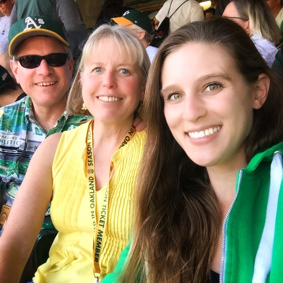 Opening Day Oakland Athletics Baseball Game with my parents!