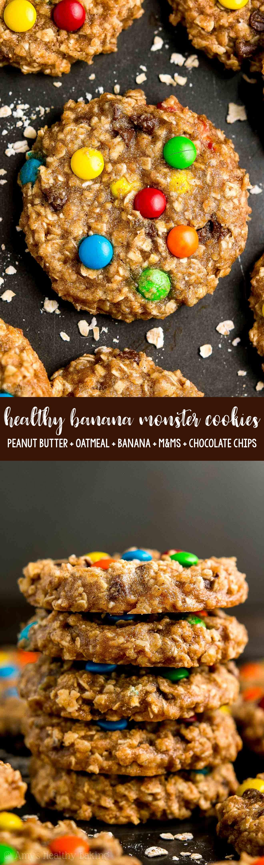 The Best Gluten Free Vegan Healthy Banana Monster Cookies