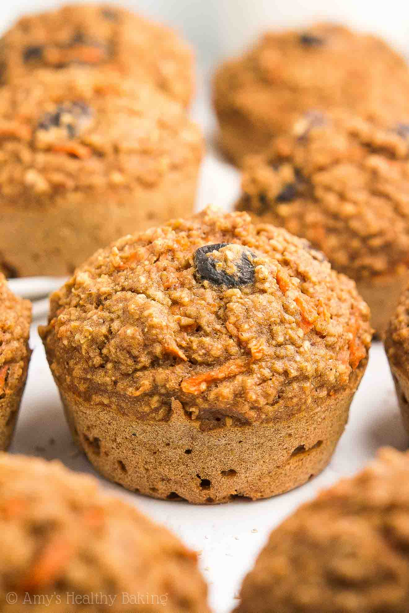 Freshly Baked Kid-Friendly Healthy Carrot Raisin Bran Muffins