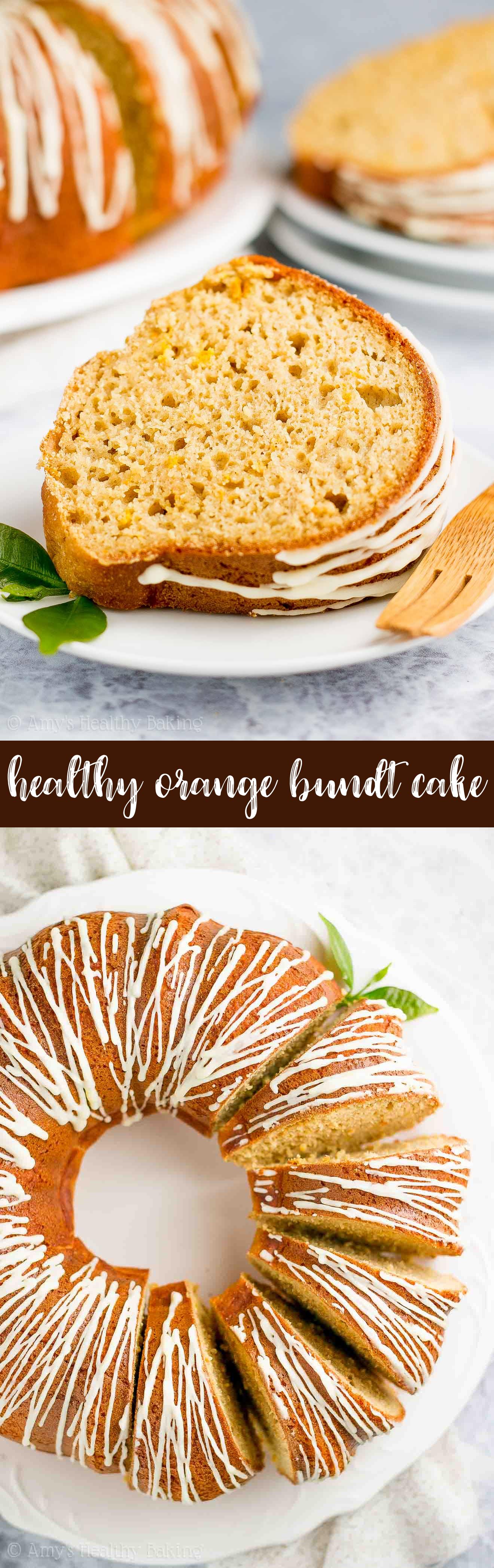The Best Sugar-Free Healthy Orange Bundt Cake with Orange Glaze Recipe