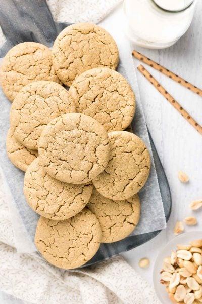 Healthy Practically Flourless Peanut Butter Cookies