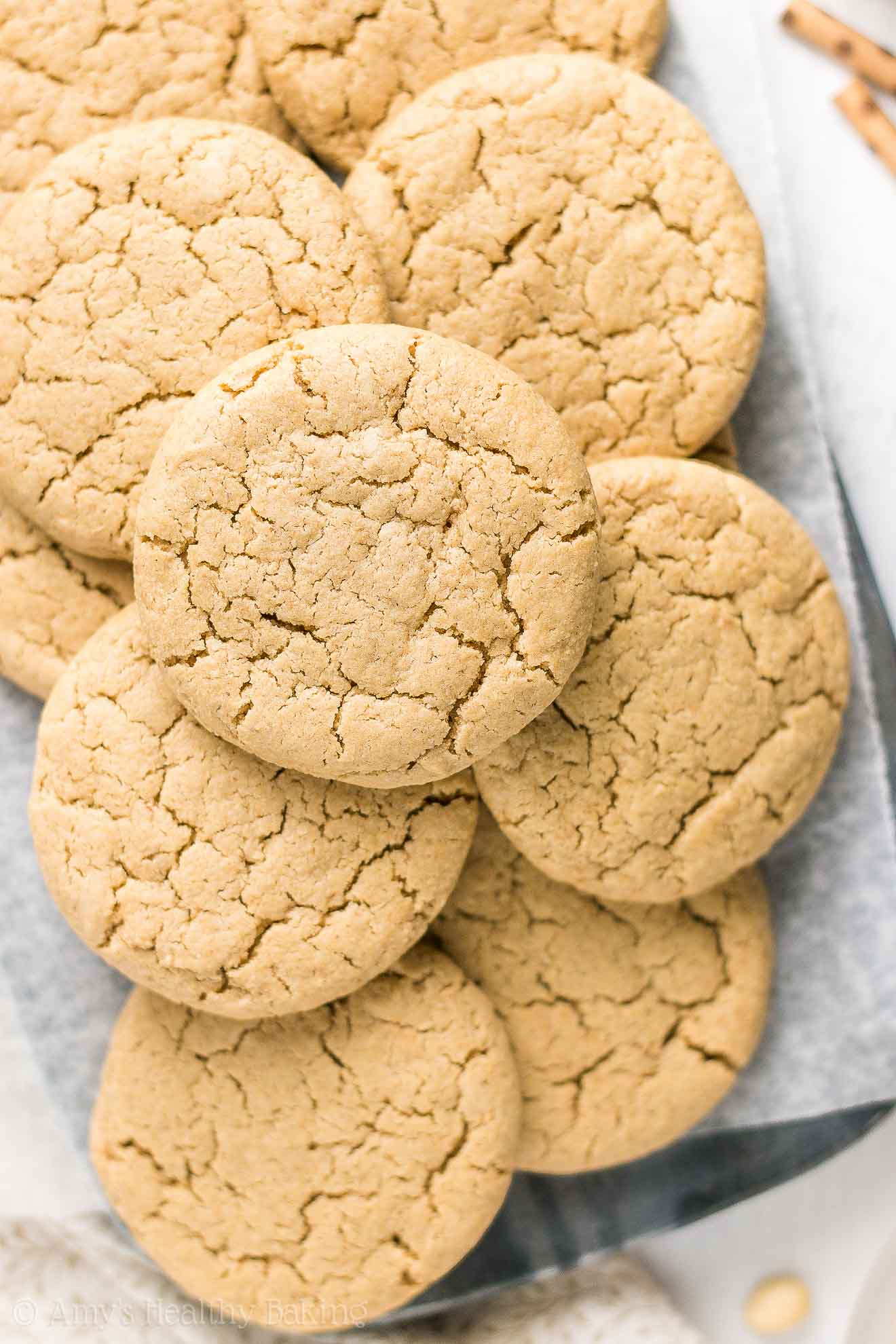 Easy Healthy Gluten-Free Flourless Peanut Butter Cookies with no eggs