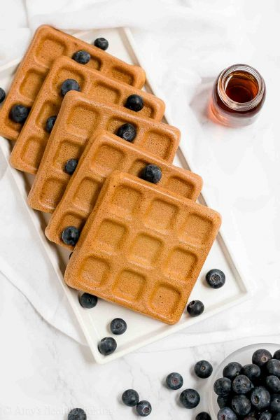 The Ultimate Healthy Baked Buttermilk Waffles