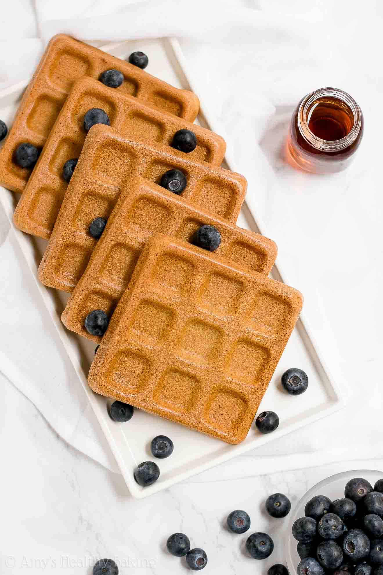 BEST EVER Healthy Whole Wheat Buttermilk Waffles with weight watchers points