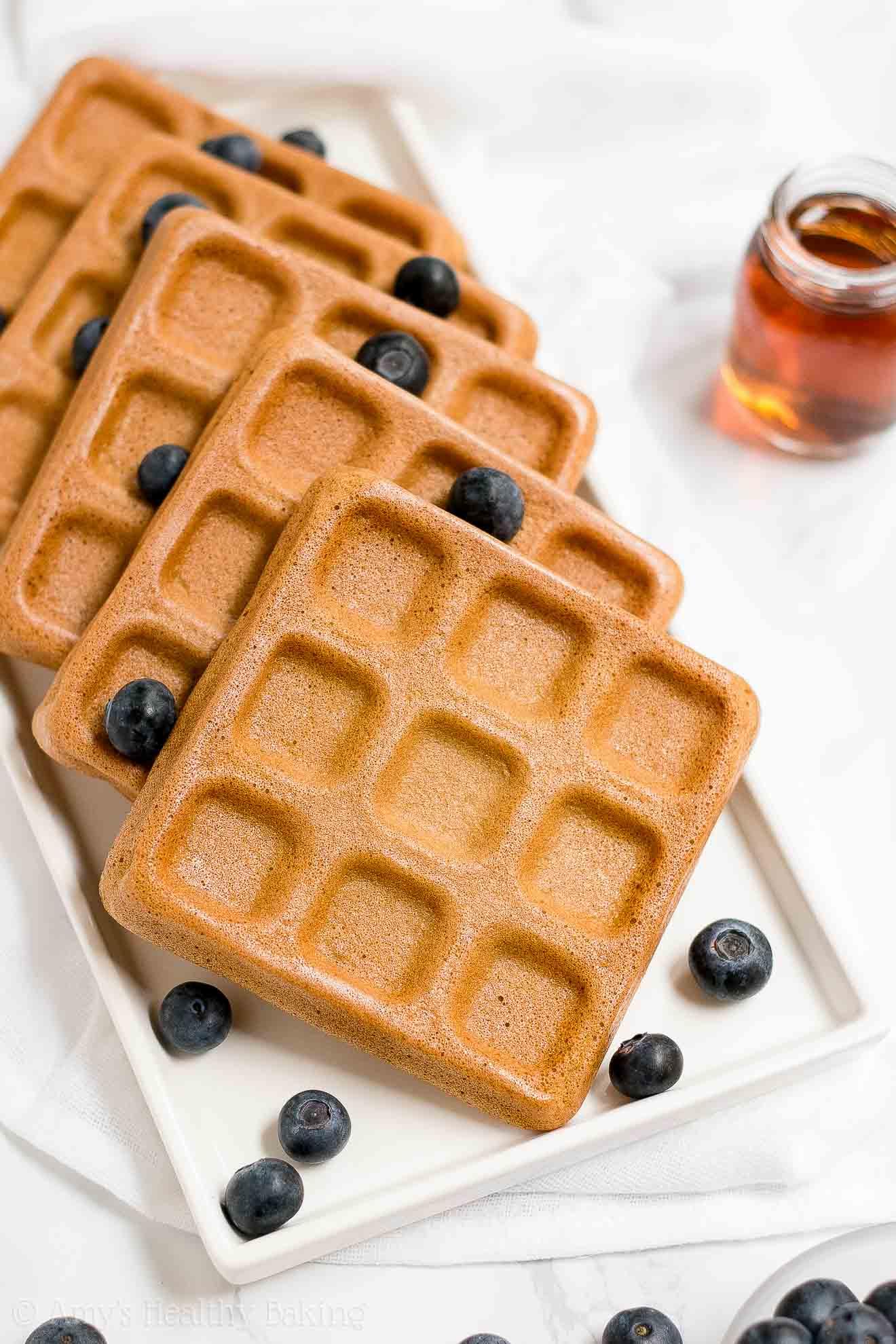 The BEST Easy Healthy Gluten Free Buttermilk Waffles