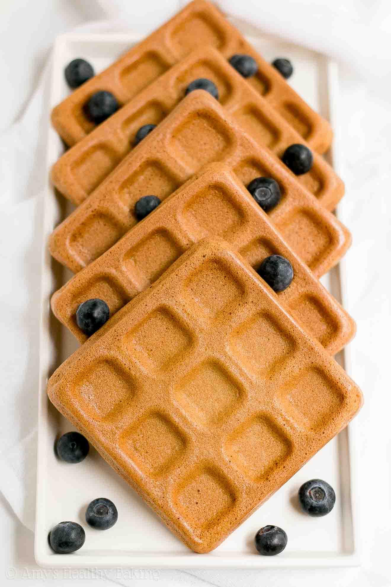 The BEST Healthy Low Calorie Gluten Free Buttermilk Waffles