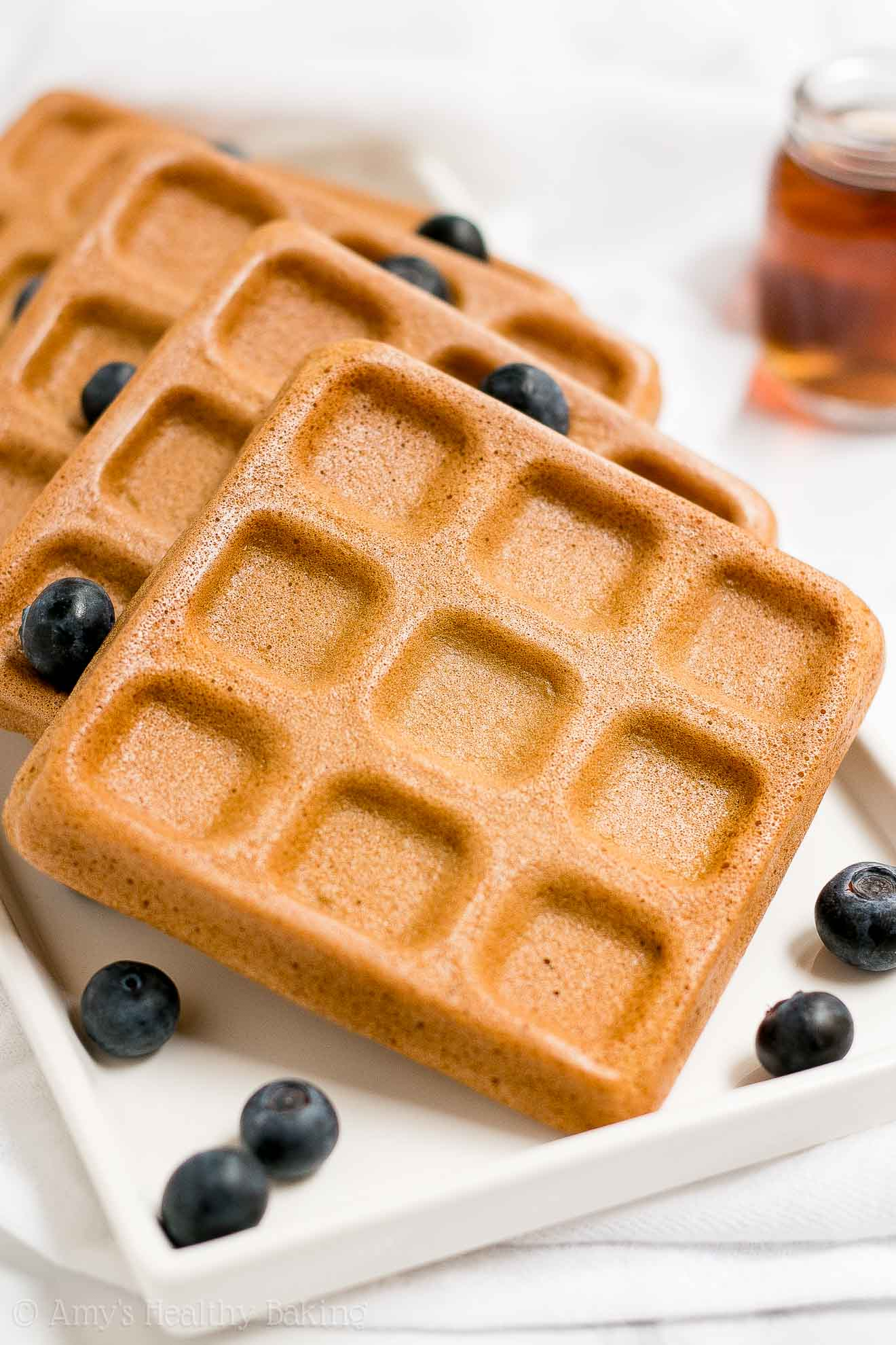 the ultimate healthy baked buttermilk waffles | amy's healthy baking