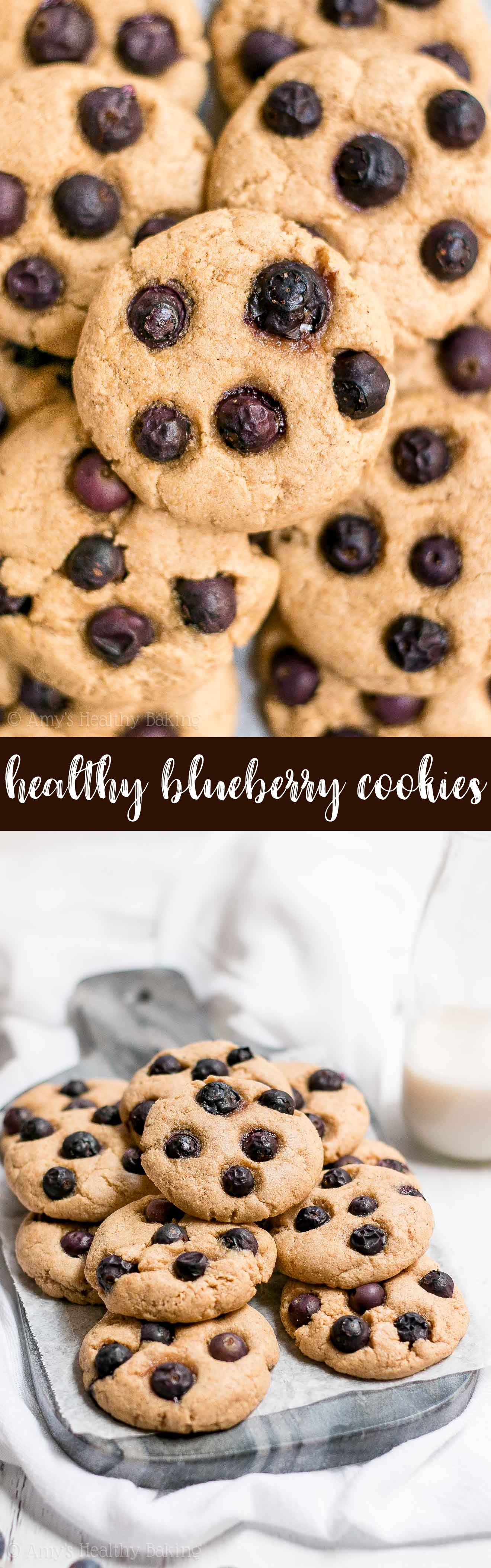 The Best Healthy Soft and Chewy Fresh Blueberry Cookies