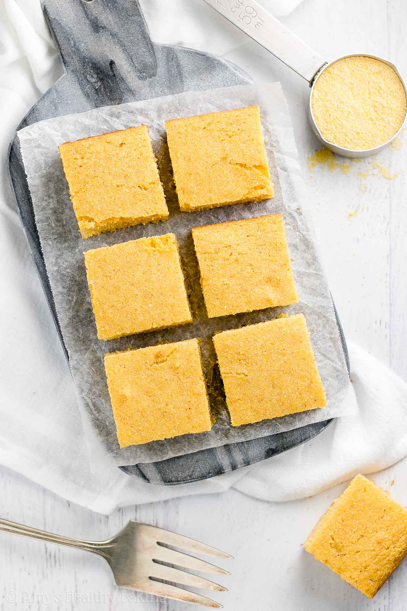 Moist Healthy Buttermilk Cornbread made with whole wheat flour