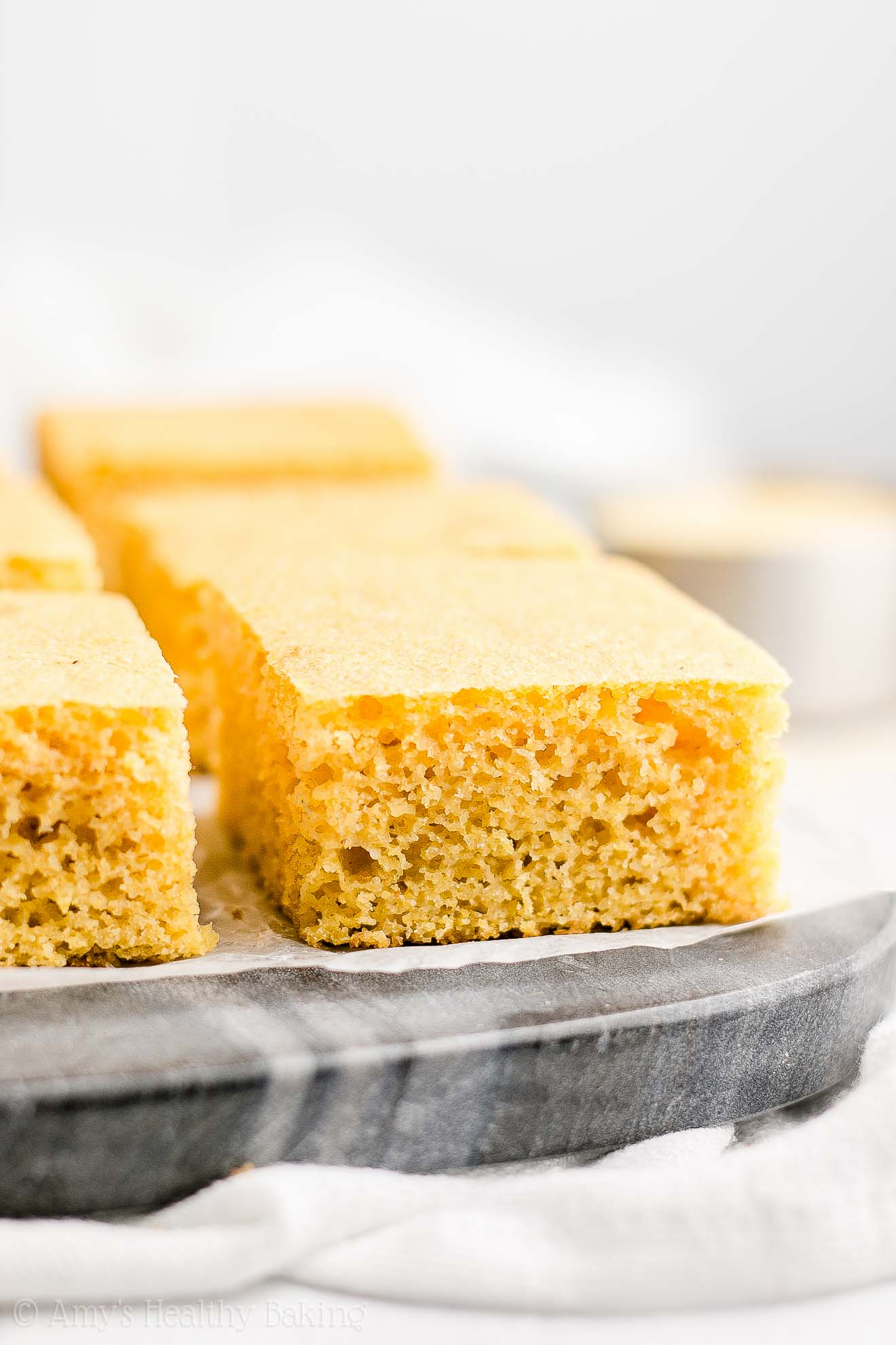 Easy Clean Eating Healthy Buttermilk Cornbread with no refined sugar