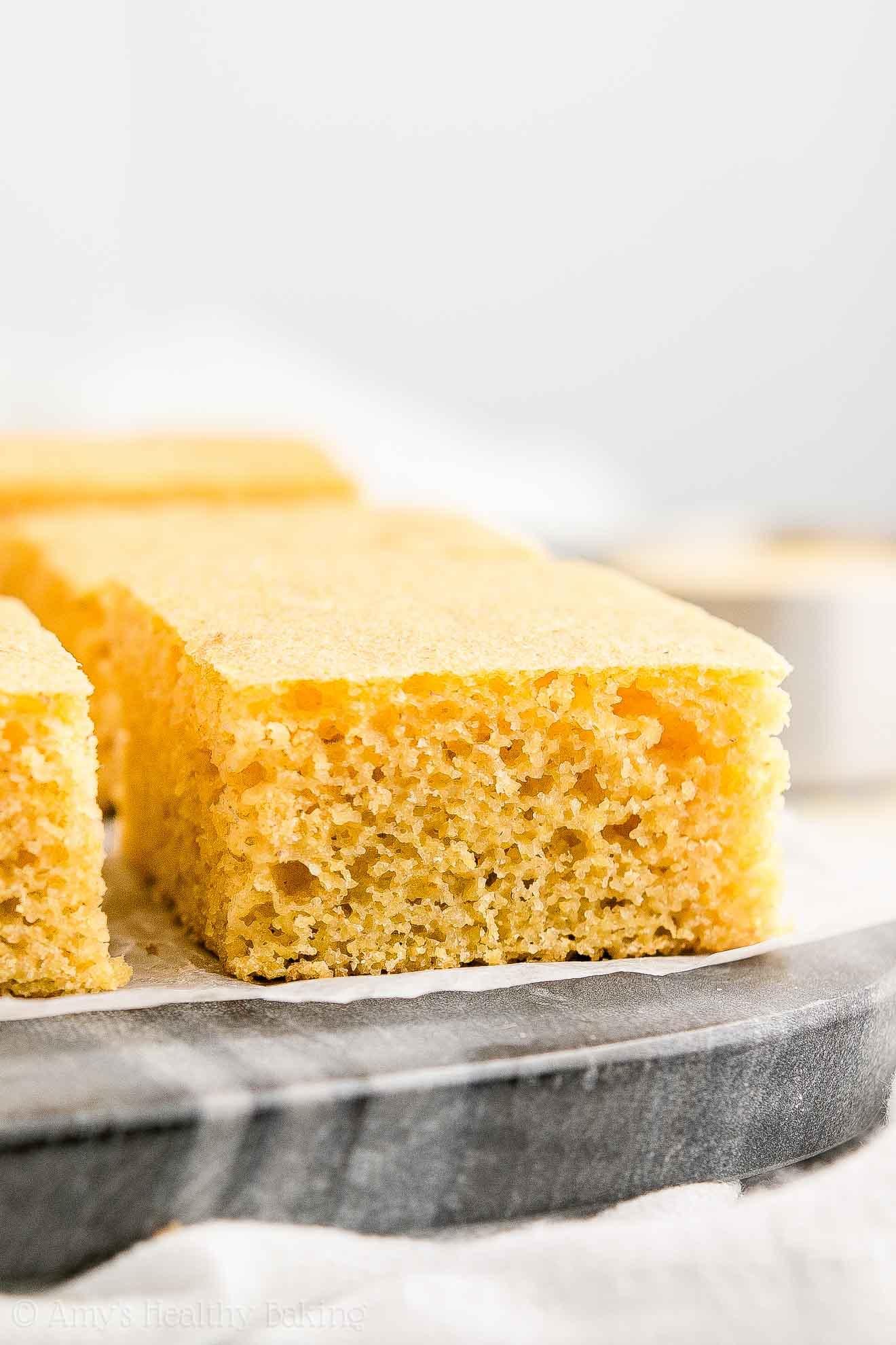 Easy Healthy Buttermilk Cornbread with no sugar