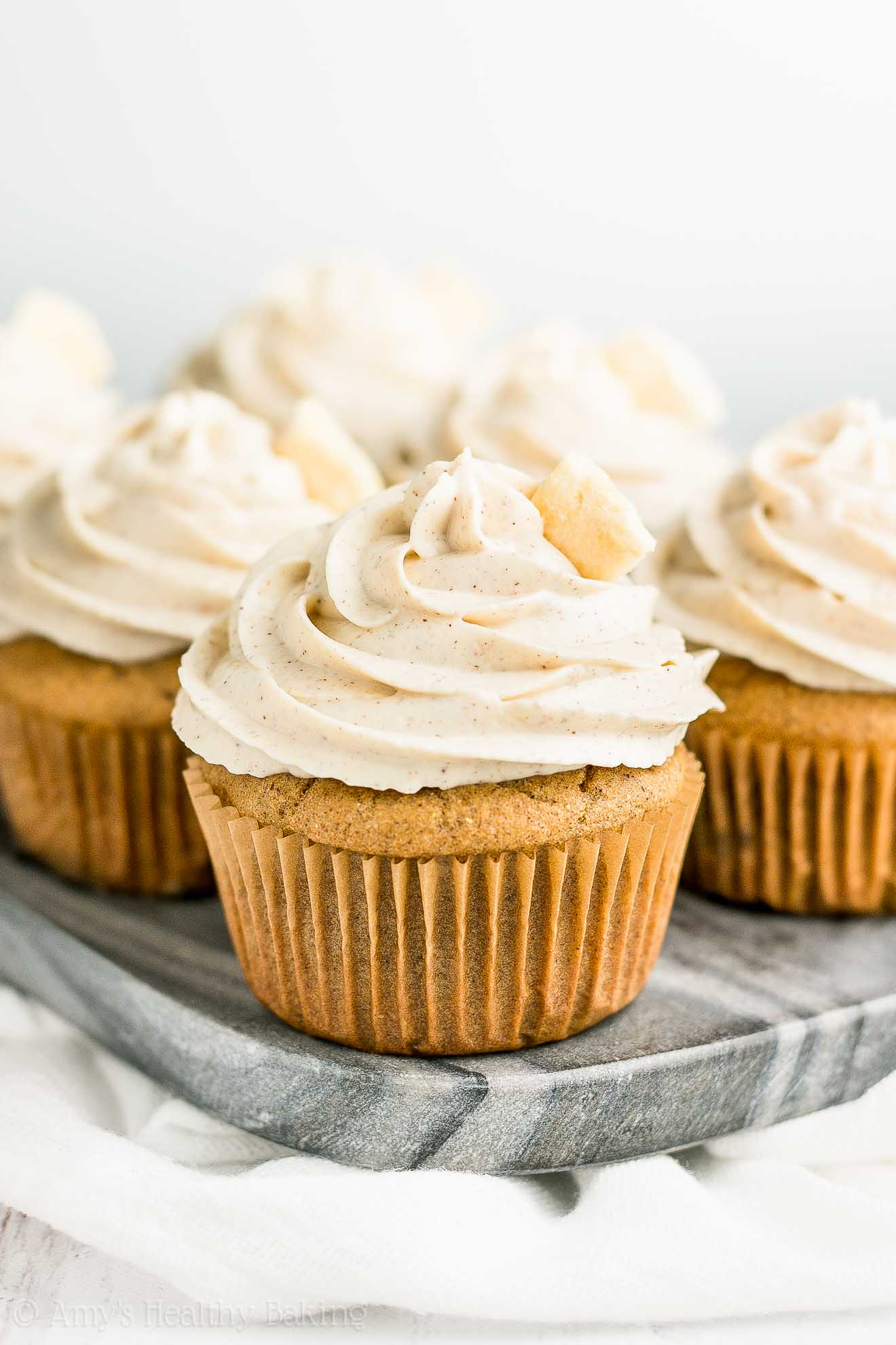 Healthy Gluten-Free Sugar-Free Cinnamon Apple Cupcakes