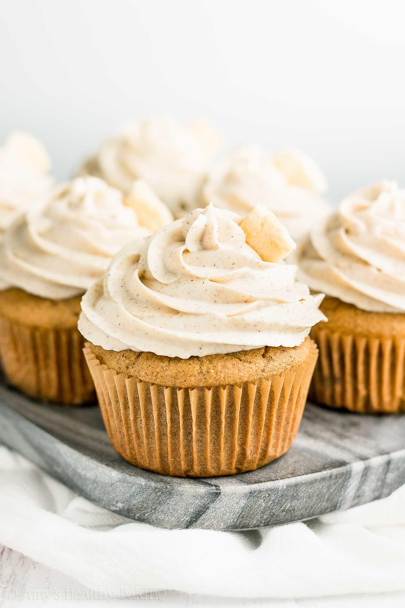 Healthy Cinnamon Apple Cupcakes | Amy's Healthy Baking