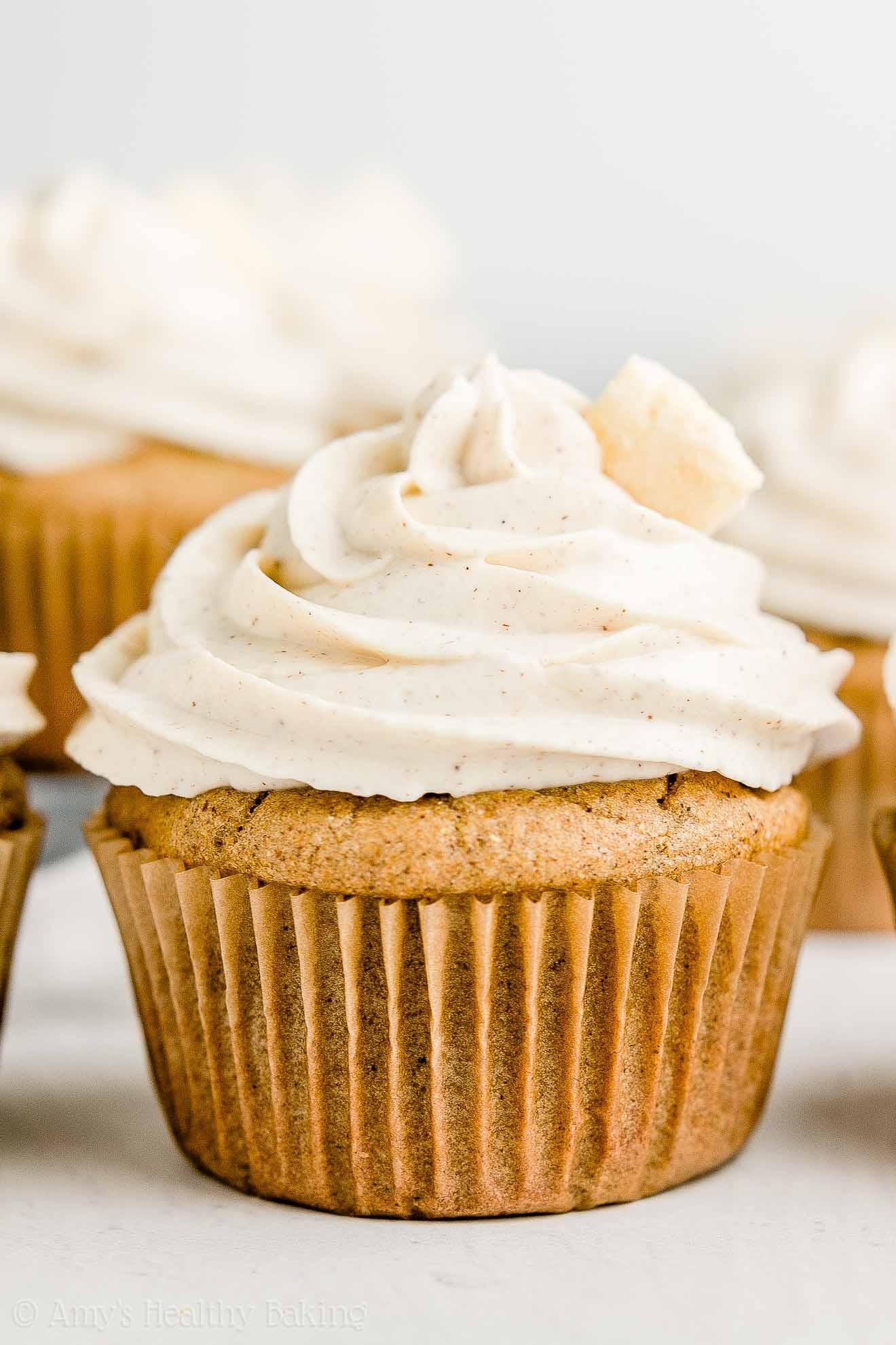 Easy Clean Eating Healthy Cinnamon Apple Cupcakes