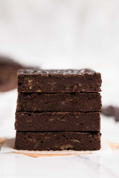 Healthy Fudgy Zucchini Brownies