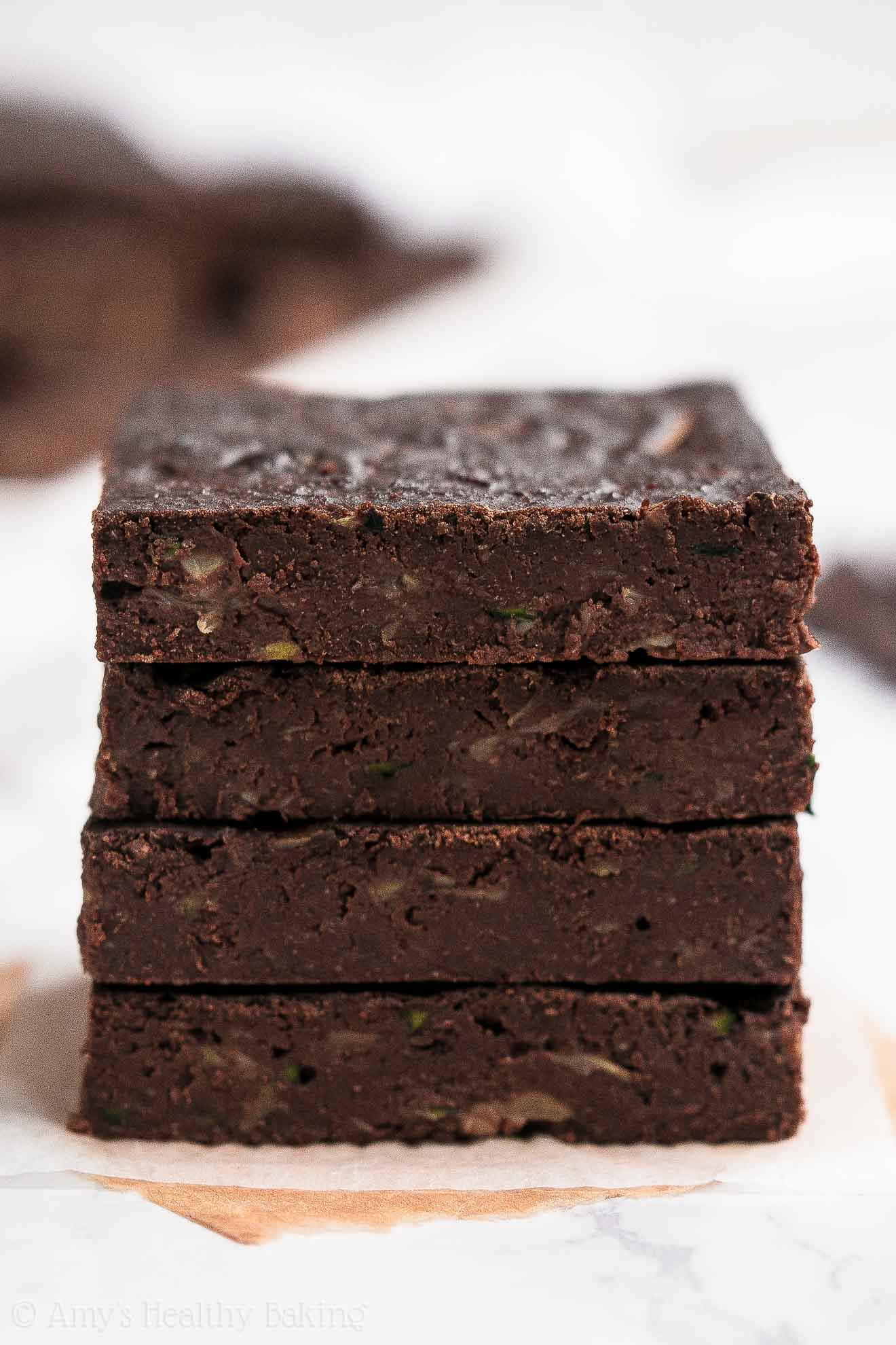 Best Healthy Fudgy Chocolate Zucchini Brownies