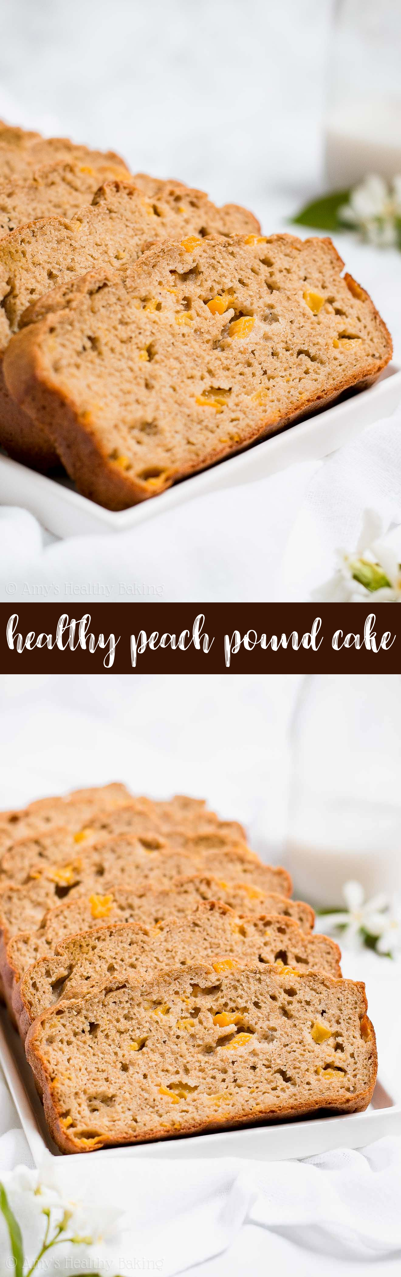 Best Ever Healthy Peach Pound Cake from scratch