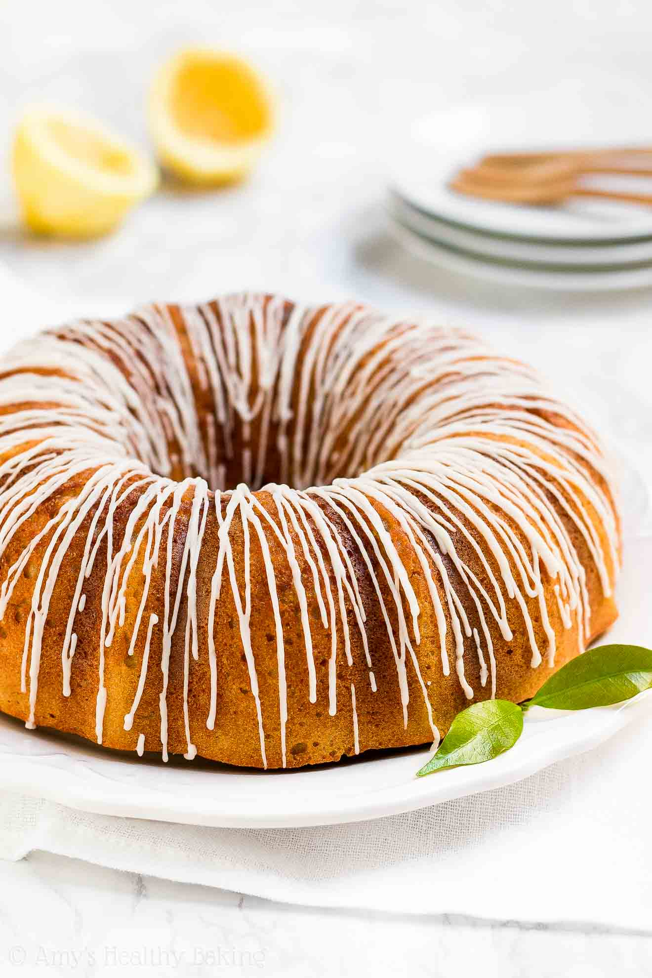 Healthy Sugar Free Diabetic Friendly Lemon Bundt Cake