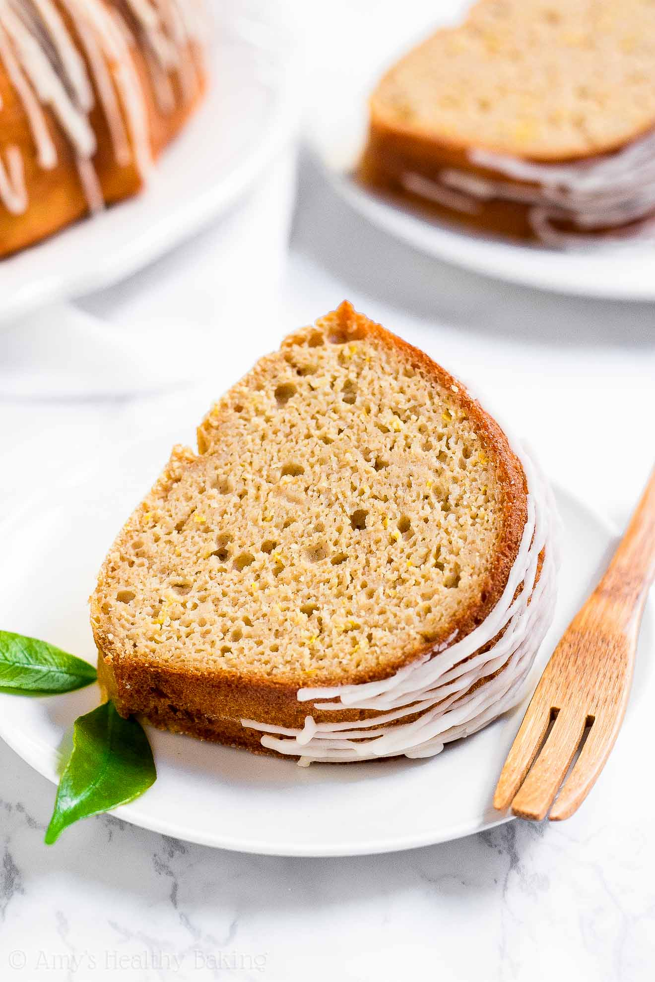 Healthy Low Calorie Moist Lemon Bundt Cake
