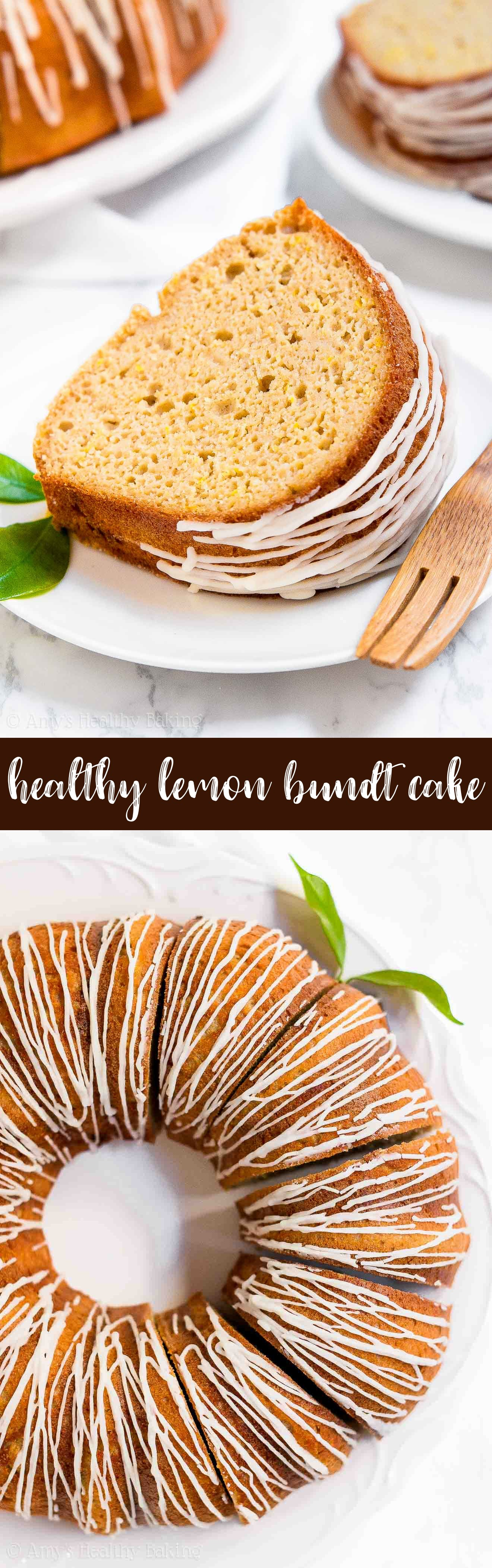 The Absolute Best Healthy Lemon Bundt Cake with Lemon Glaze (from scratch!)