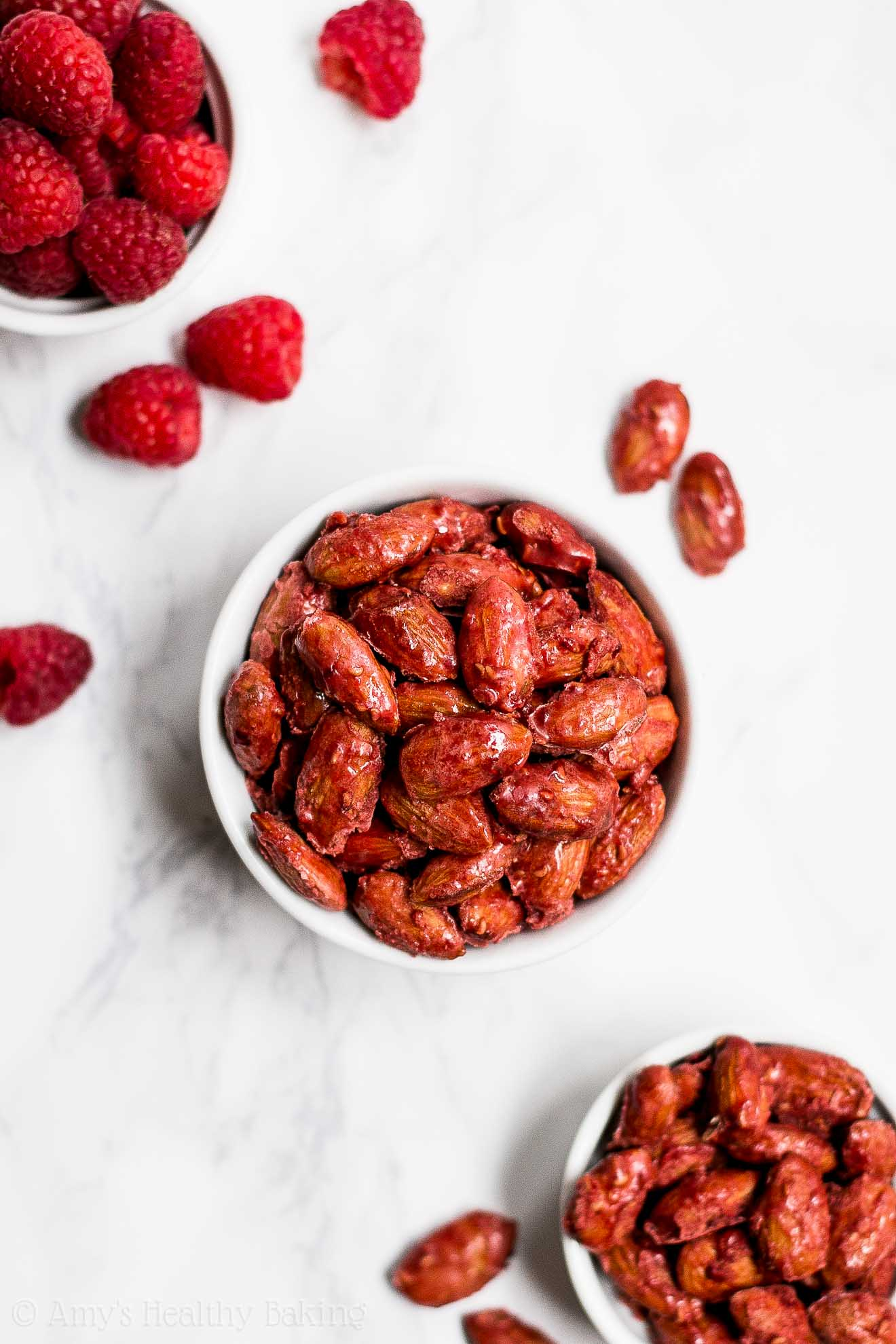 Healthy Clean Eating Raspberry Candied Almonds