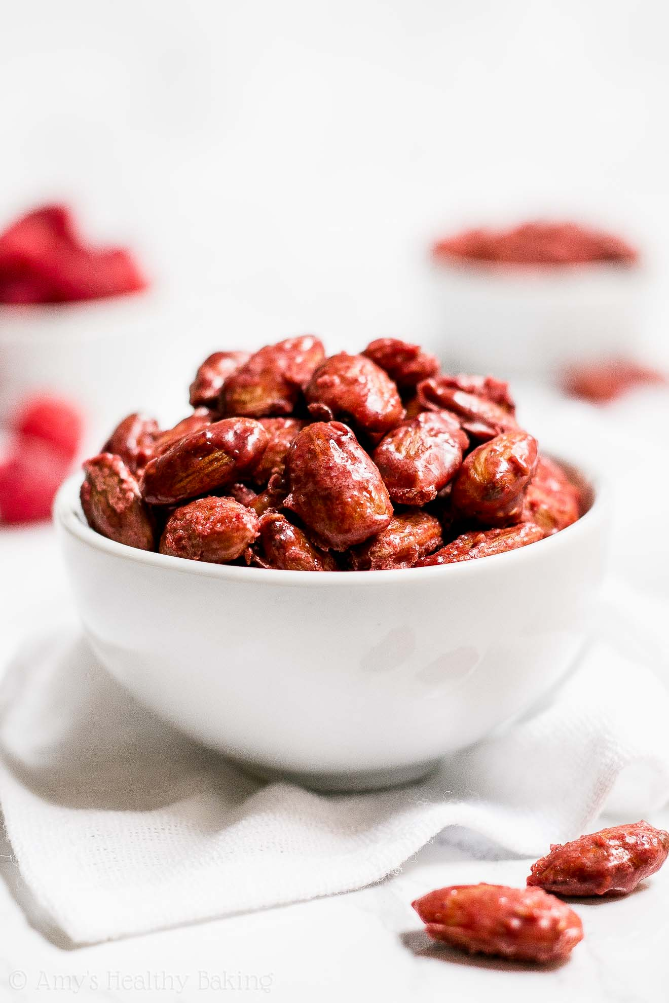 Low Carb Sugar Free Healthy Raspberry Candied Almonds