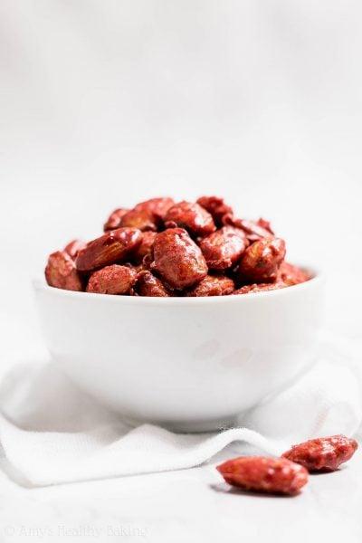 Healthy Raspberry Glazed Almonds