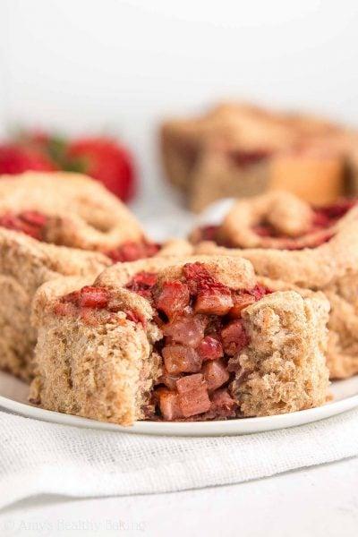 Healthy Strawberry Cinnamon Rolls