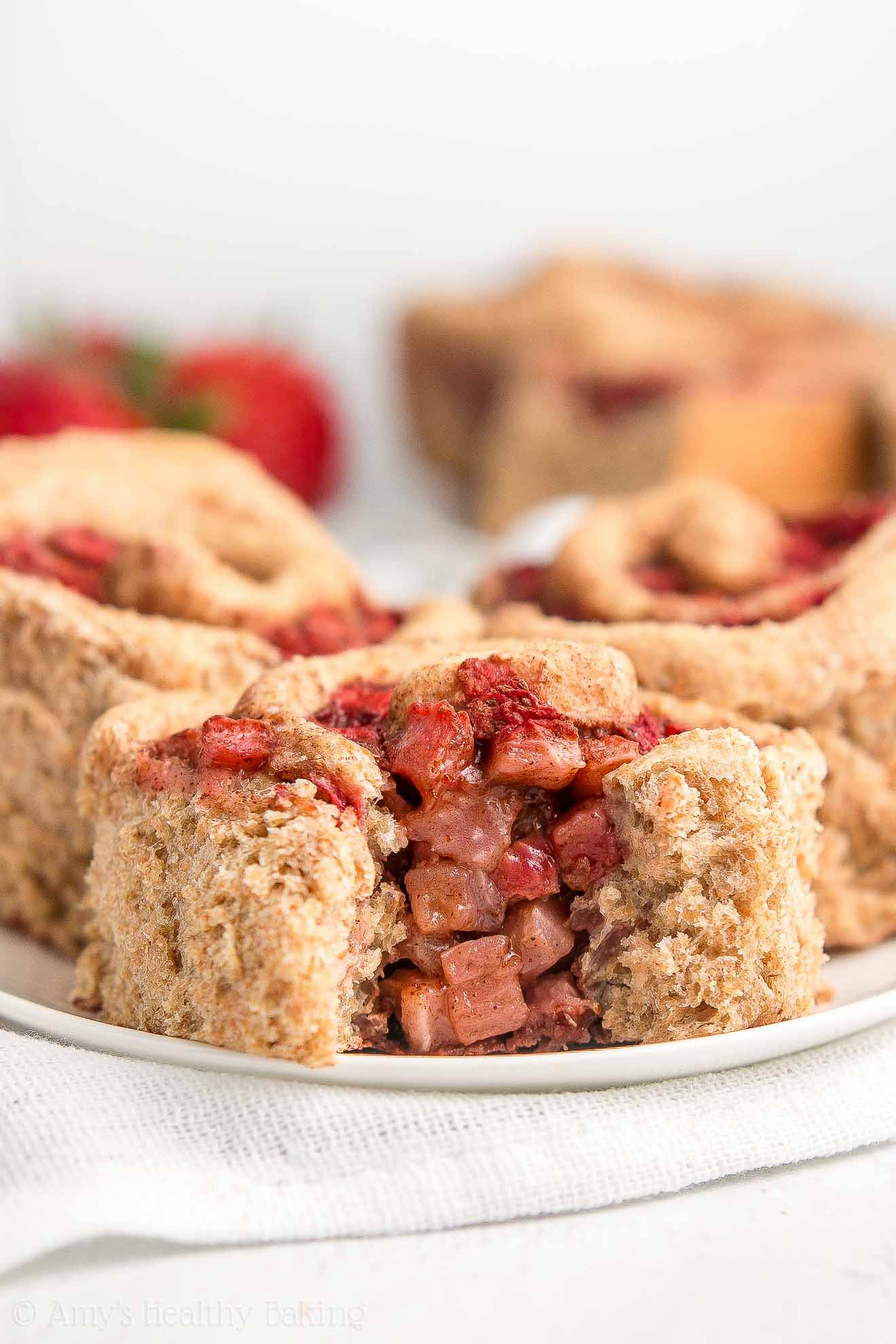 Healthy Clean Eating Strawberry Cinnamon Rolls From Scratch