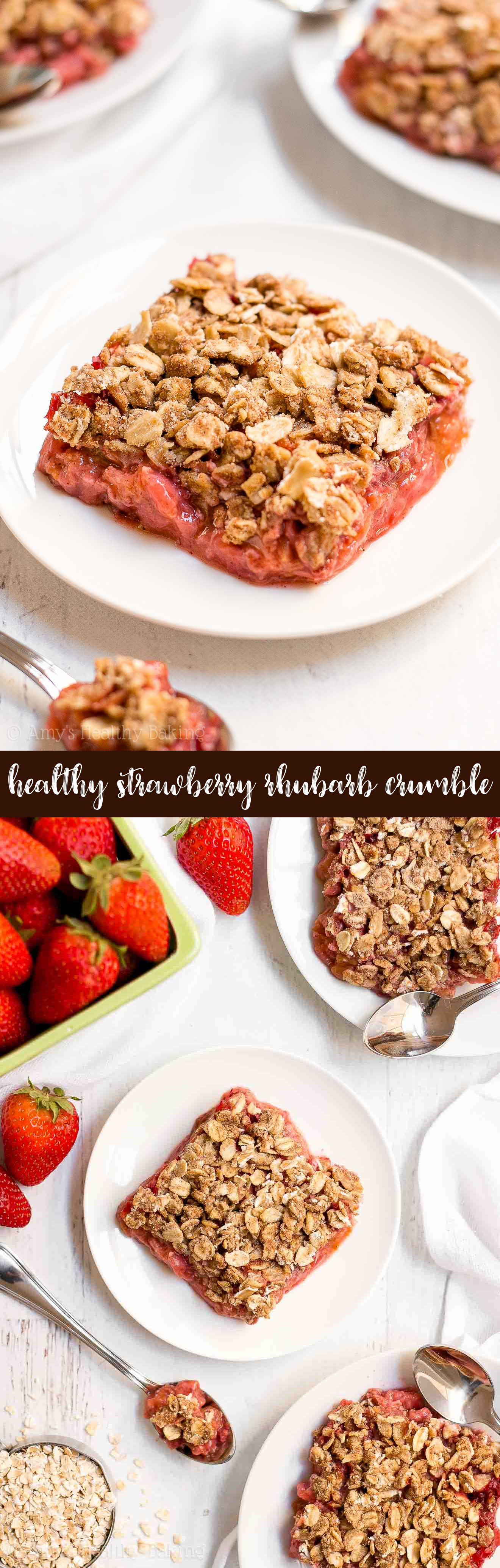 Best Healthy Strawberry Rhubarb Crumble