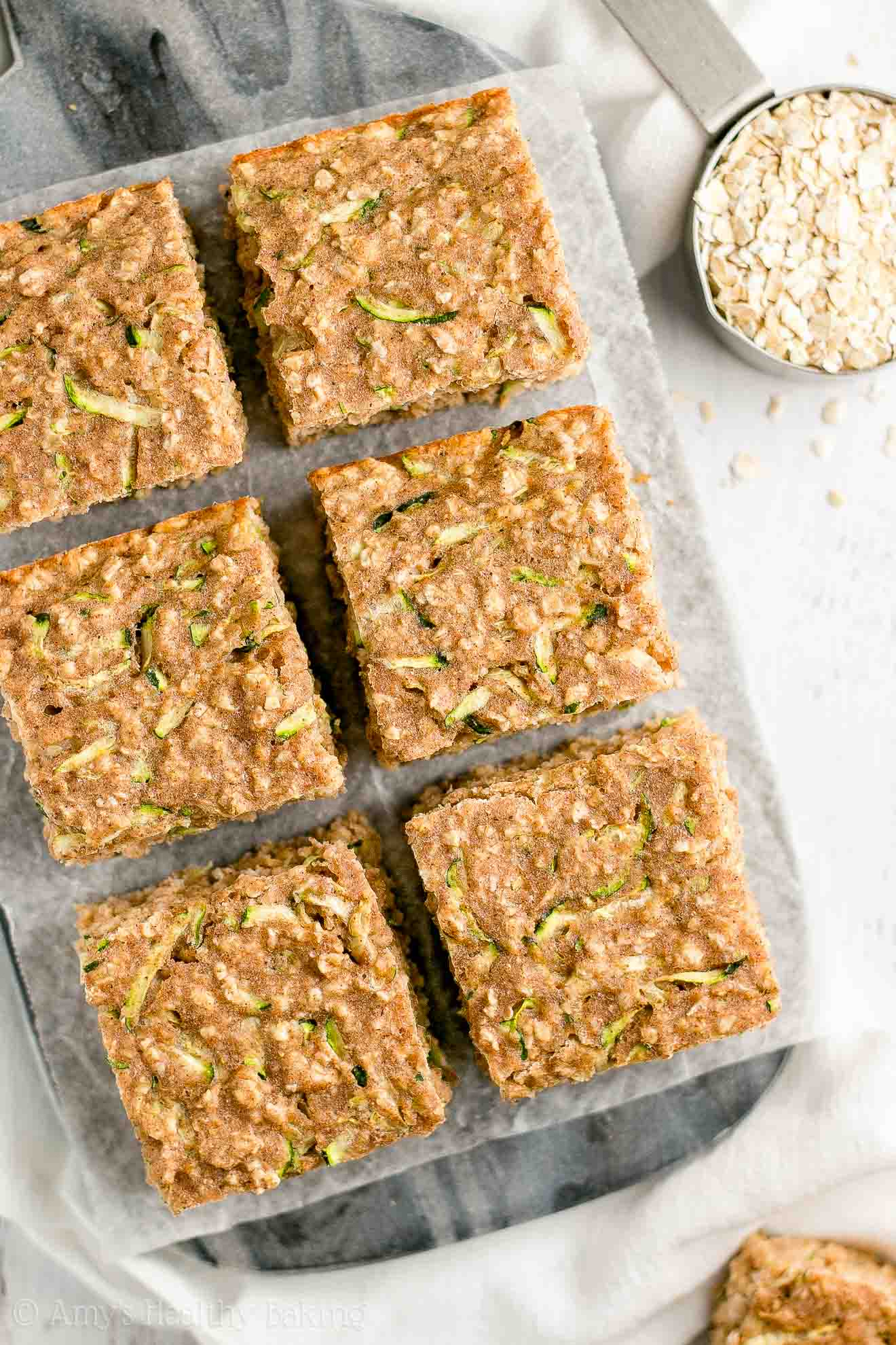 Low Calorie Healthy Zucchini Oatmeal Breakfast Cake