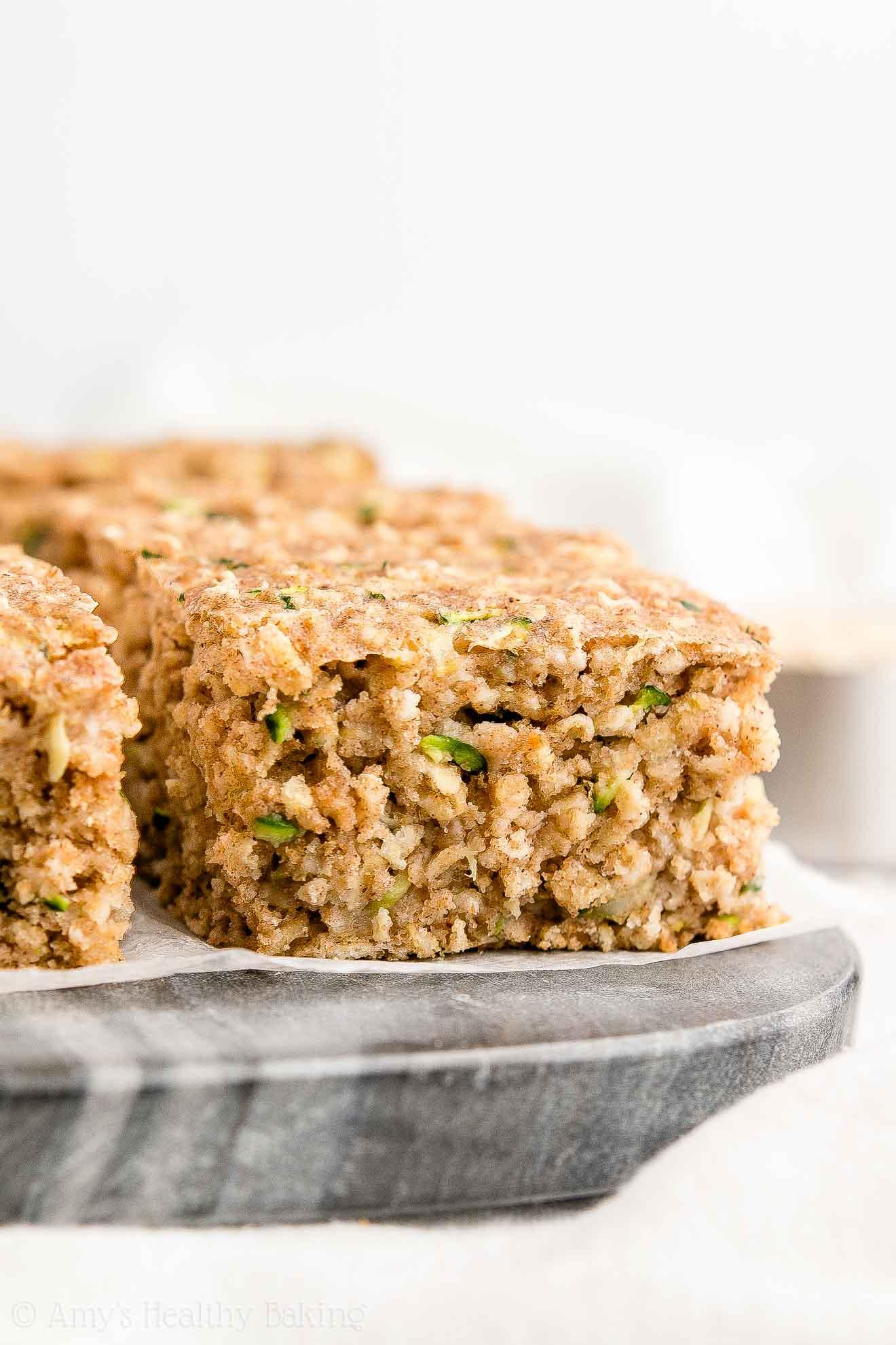 Healthy Zucchini Oatmeal Snack Cake Amy S Healthy Baking