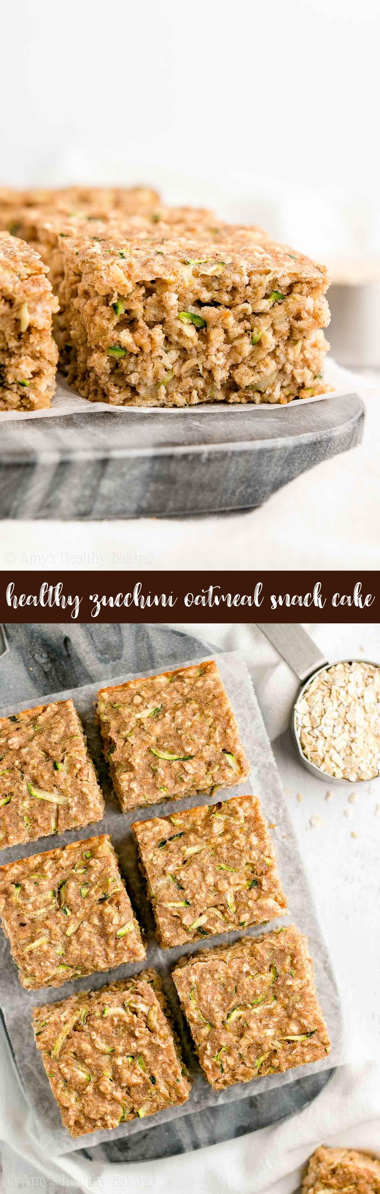 The Best Healthy Zucchini Oatmeal Snack Cake