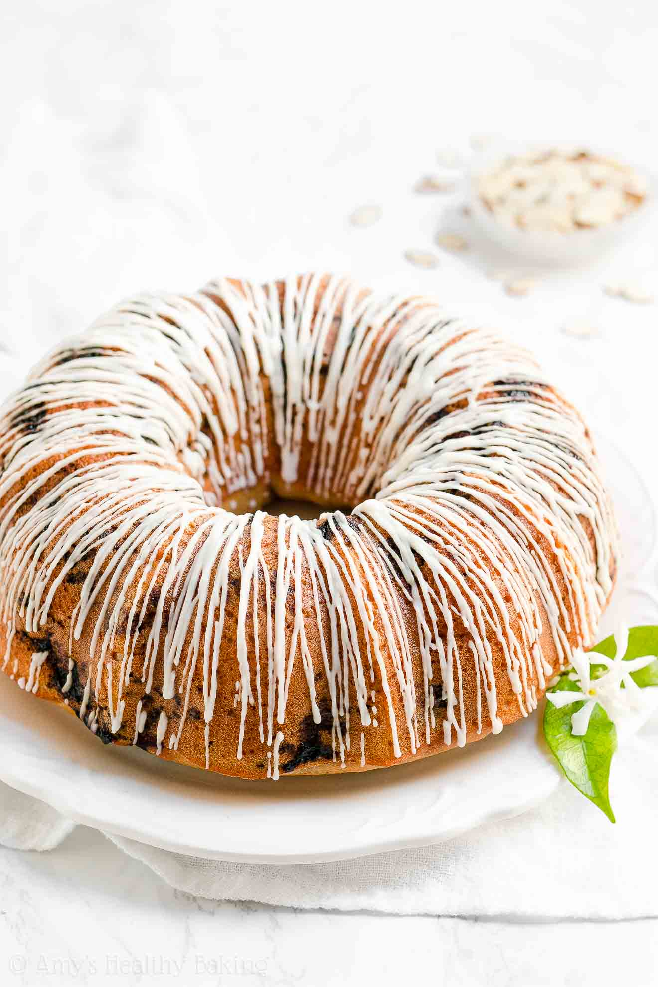 Easy Healthy Blueberry Almond Bundt Cake with Weight Watchers Points