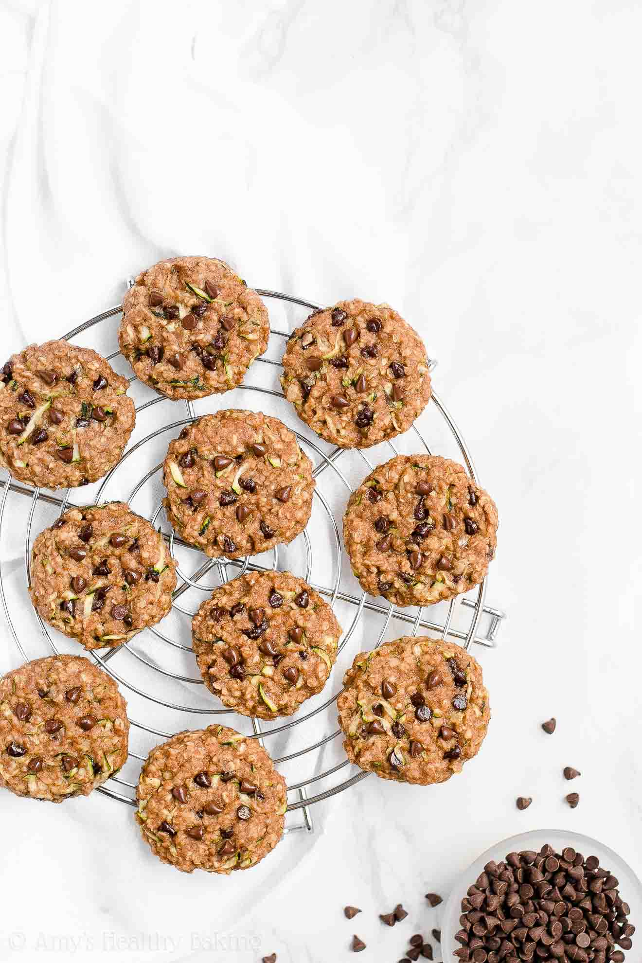Healthy Chocolate Chip Zucchini Oatmeal Breakfast Cookies Amy S