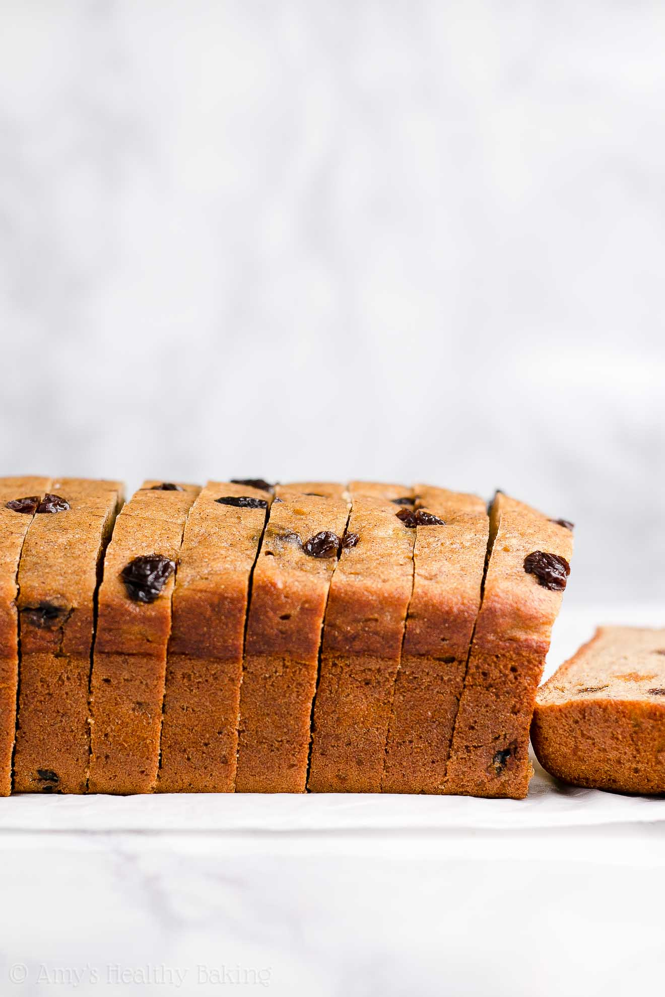Healthy Sugar Free Cinnamon Raisin Banana Bread