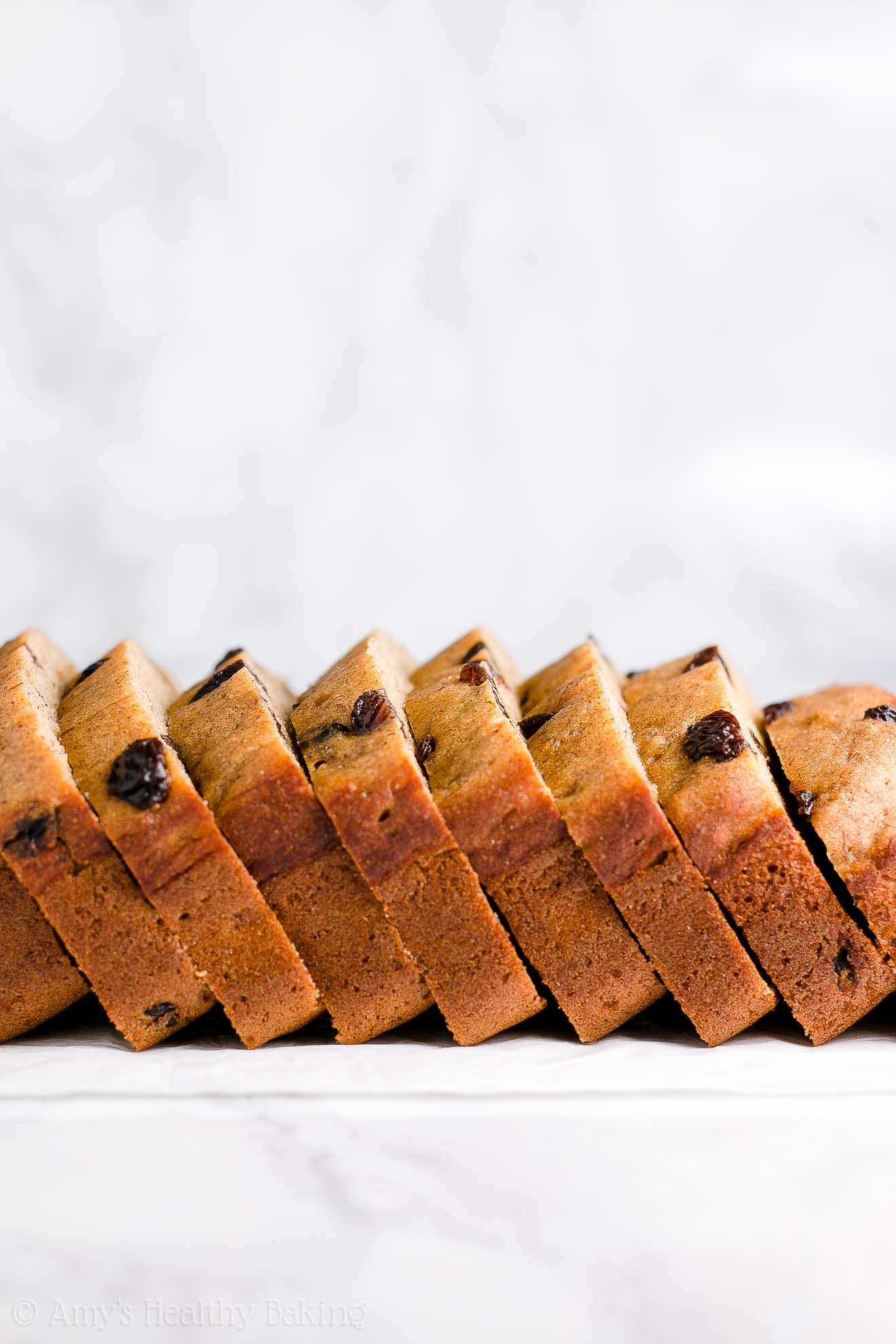 Moist & Easy Healthy Cinnamon Raisin Banana Bread