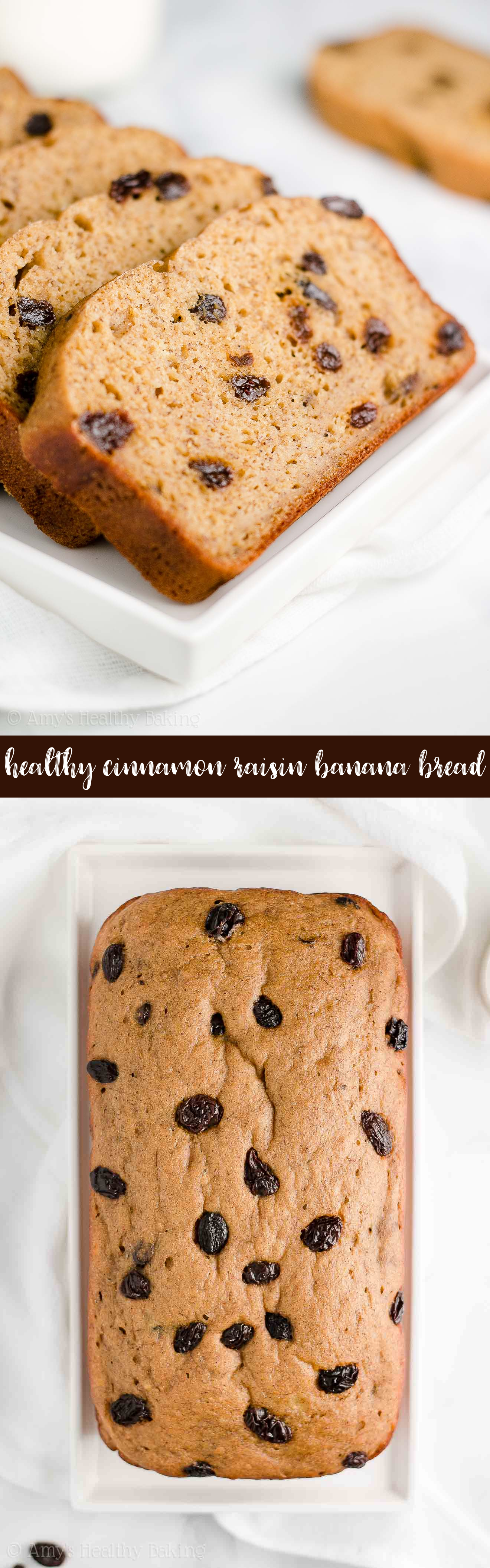 Best Healthy No Sugar Cinnamon Raisin Banana Bread