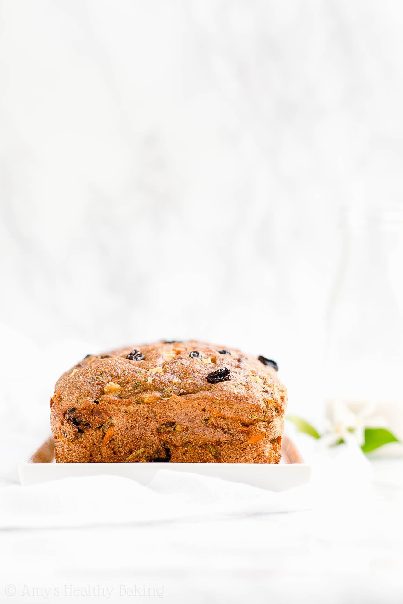 Healthy No Sugar Morning Glory Zucchini Bread