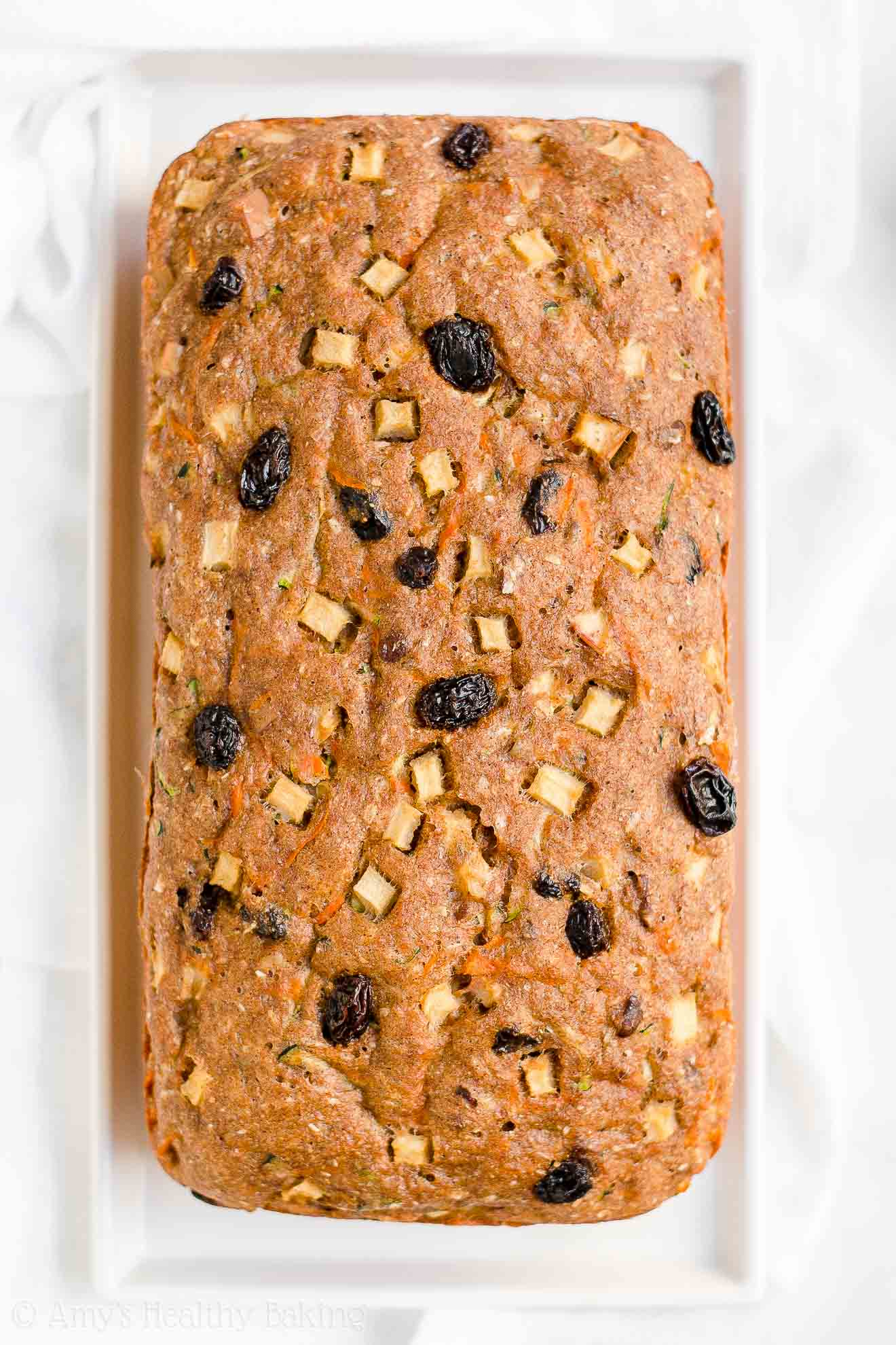 Healthy Low Calorie Morning Glory Zucchini Bread