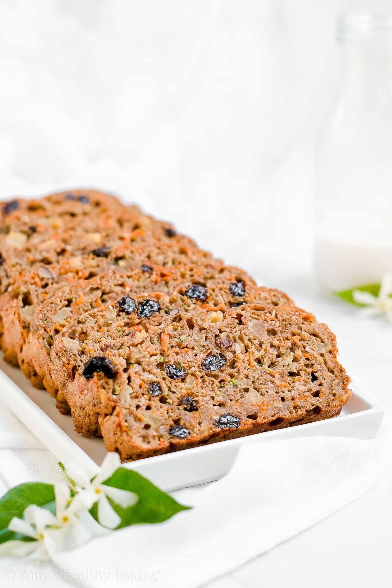 Healthy Gluten Free Morning Glory Zucchini Bread