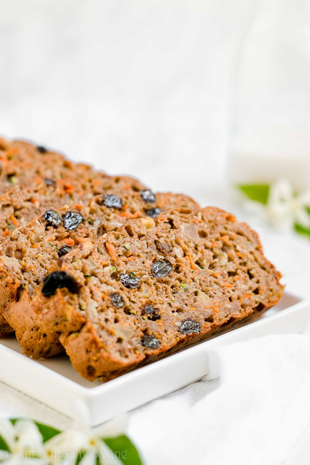 Clean Eating Healthy Morning Glory Zucchini Bread