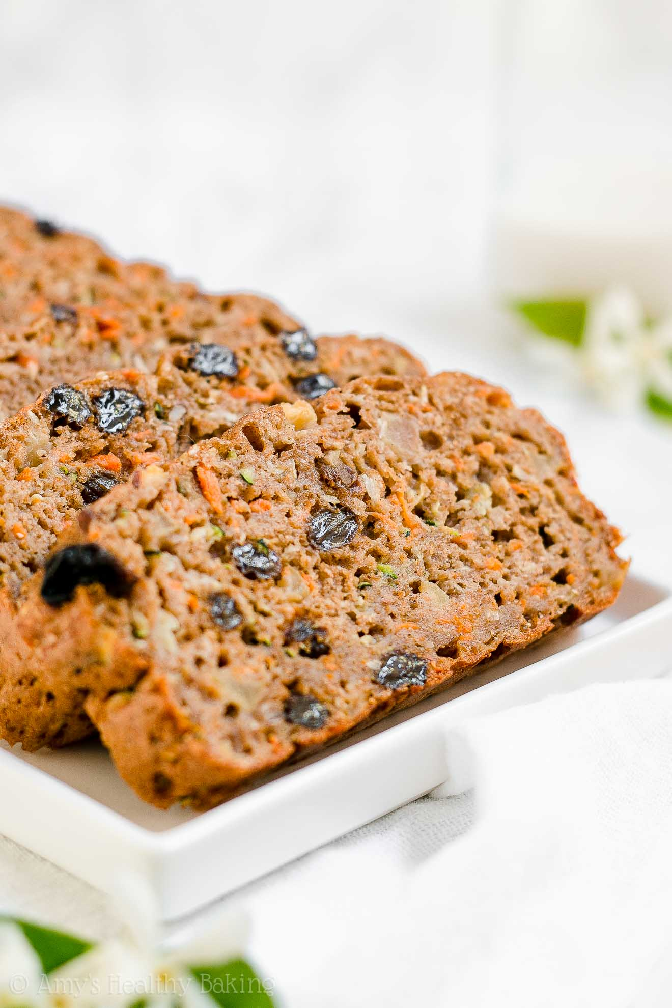 Healthy Whole Wheat Morning Glory Zucchini Bread