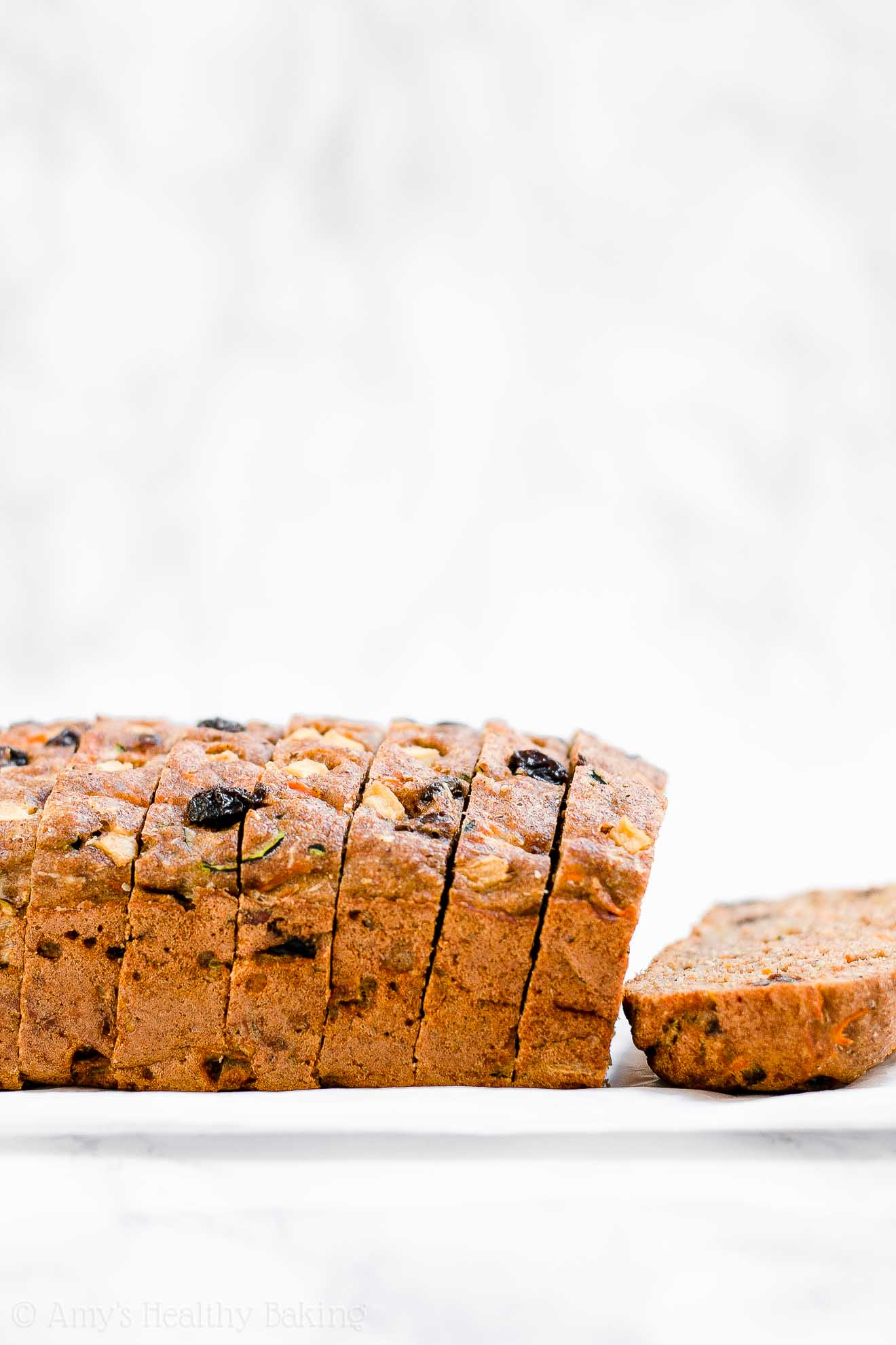 Healthy Morning Glory Zucchini Bread with Weight Watchers points
